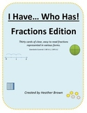 """I Have"" Fractions game edition"