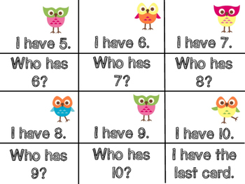 I Have HOO Has Numbers 0-10