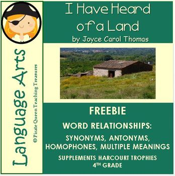 I Have Heard of a Land: Word Relationships/Common Core Aligned