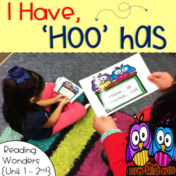 I Have Who Has for Reading Wonders Sight Words 2nd grade {Unit 1}