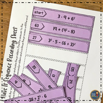 I Have It: Order of Operations - With Exponents - {FREE}