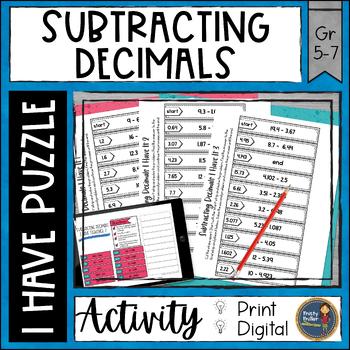 Subtracting Decimals I Have It