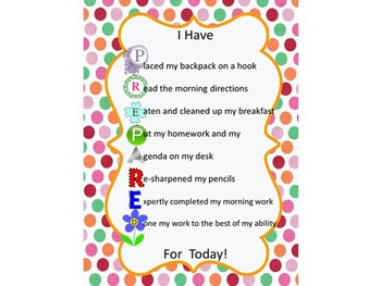 I Have PREPARED For Today Poster: red, pink, orange, and green dots