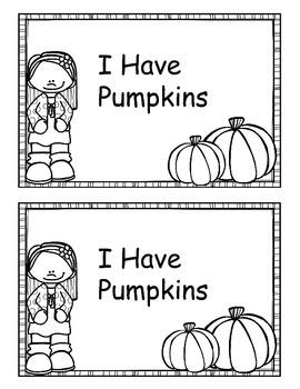 I Have Pumpkins Emergent Reader