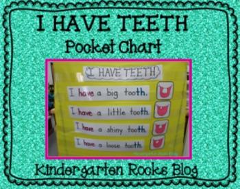 I Have Teeth Pocket Chart