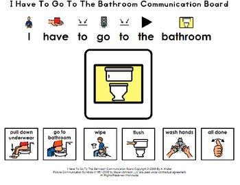 i have to go to the bathroom communication board by a