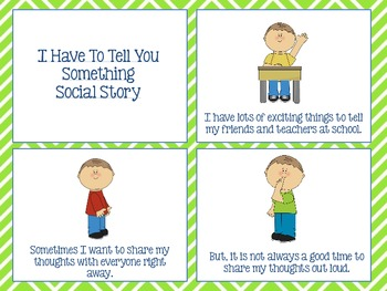 I Have To Tell You Something Social Story