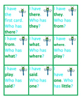 I Have... Tricky Sight Word Game