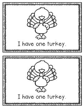 I Have Turkeys Emergent Reader