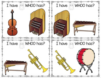 I Have WHOO Has Instrument Game
