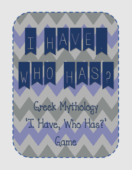 I Have - Who Has?