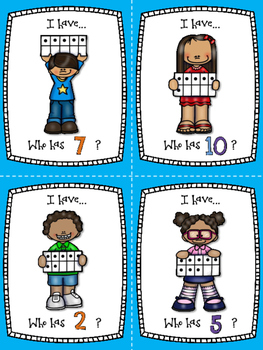 I Have - Who Has? - 0-10 Number recognition game - DUAL - FREE