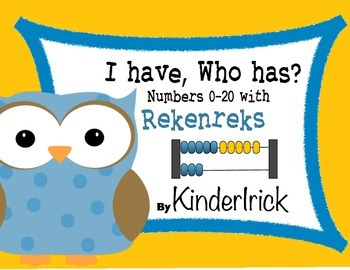 I Have... Who Has...? 0-20 with Rekenreks and Numbers