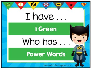 I Have, Who Has 1 Green Power Words