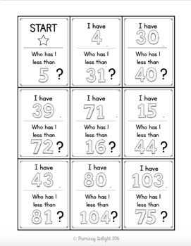One Less: I Have... Who Has...? (A Place Value Game)