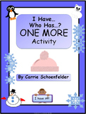 I Have Who Has 1 More Winter Kindergarten Counting K.CC.C.6