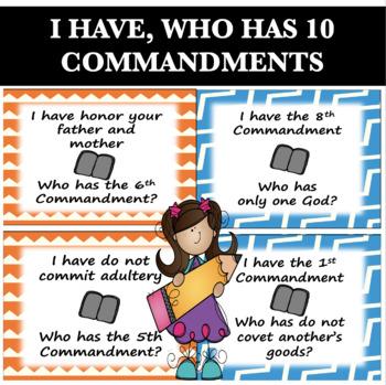 I Have, Who Has 10 Commandments - Catholic