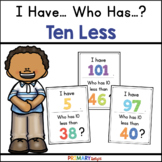 10 Less: I Have... Who Has...? (A Place Value Game)