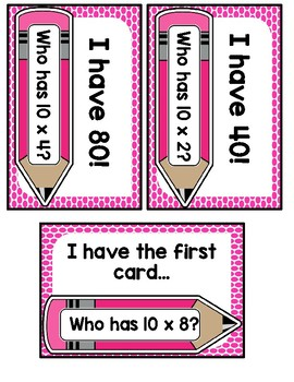 I Have, Who Has? 10 Multiplication Facts