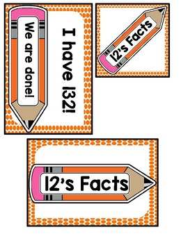 I Have, Who Has? 12 Multiplication Facts