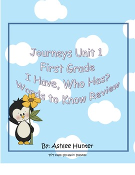 I Have, Who Has 1st Grade Unit 1 Journeys