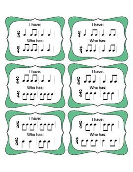 I Have Who Has 2/4 Rhythms (Set 1)
