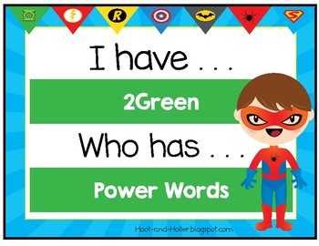 I Have, Who Has 2 Green Power Words