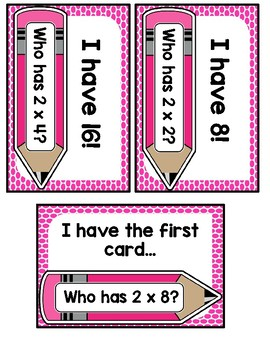 I Have Who Has? 2 Multiplication Facts