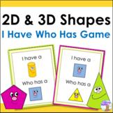2D & 3D Shapes Game