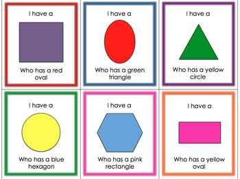 I Have Who Has - 2D Shapes