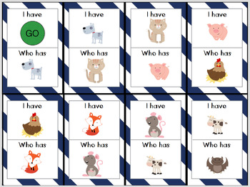 I Have, Who Has? {3 Scaffolded Sets - CVC Words} for Early Childhood