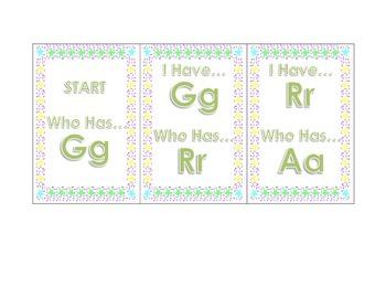 I Have .. Who Has .. 3 Set Alphabet Cards