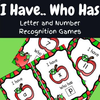 I Have Who Has- A Letter Recognition Game