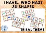 I Have Who Has 3D Shapes