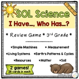 """""""I Have, Who Has"""" 3rd grade Science Review-VA SOL"""