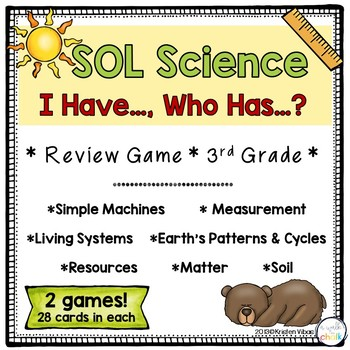 End of the Year SOL Science Review Games for 3rd Grade