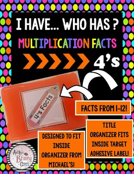 I Have Who Has? 4 Multiplication Facts