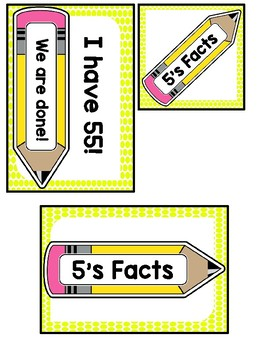 I Have Who Has? 5 Multiplication Facts