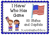 I Have/ Who Has 50 States Game