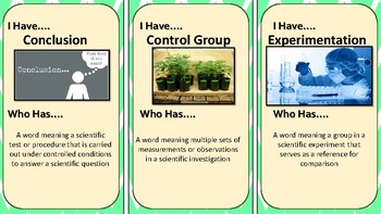 I Have, Who Has 5th Grade Science Vocabulary Review Game 1