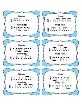 I Have Who Has 6/8 Rhythms (Set 3)