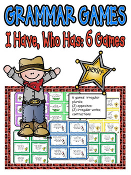 Reading Games: I Have, Who Has: 6 Games to Practice Language Arts/Grammar!