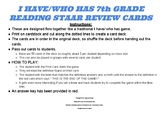 I Have/Who Has 7th and 8th grade Reading STAAR Review Game