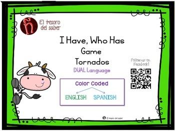 I Have, Who Has - A Game for vocabulary about Tornados for