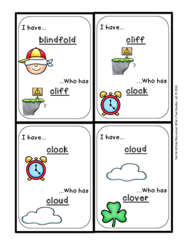 I Have Who Has...(bl, cl, fl, gl, pl, sl  blends): A Phonics Game