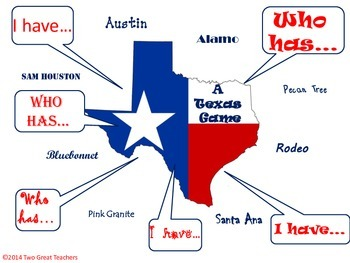 I Have Who Has - A Texas Game