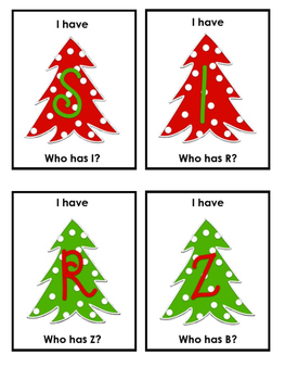 I Have Who Has A-Z Christmas  FREE