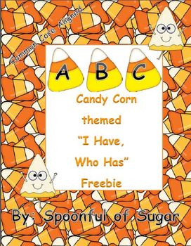 I Have, Who Has ABC Candy Corn themed Freebie