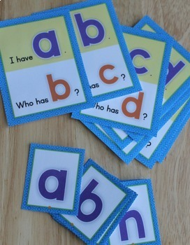 ABC Game: I Have, Who Has Alphabet Game for ECE