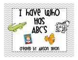 I Have Who Has ABC's